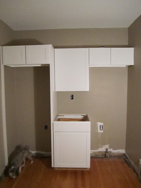 small kitchen remodel, new cabinets 1