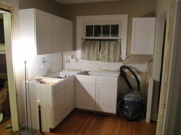 small kitchen remodel, new cabinets 2