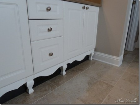 upgrade cabinets by adding furniture style feet, Plum Doodles