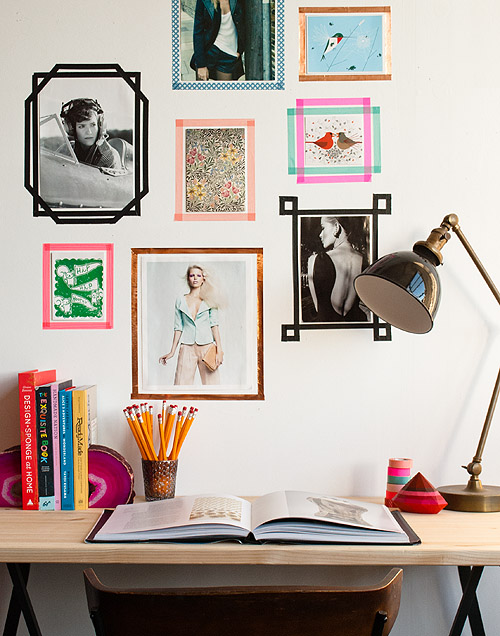 washi tape home decor - gallery of frames, Design Sponge