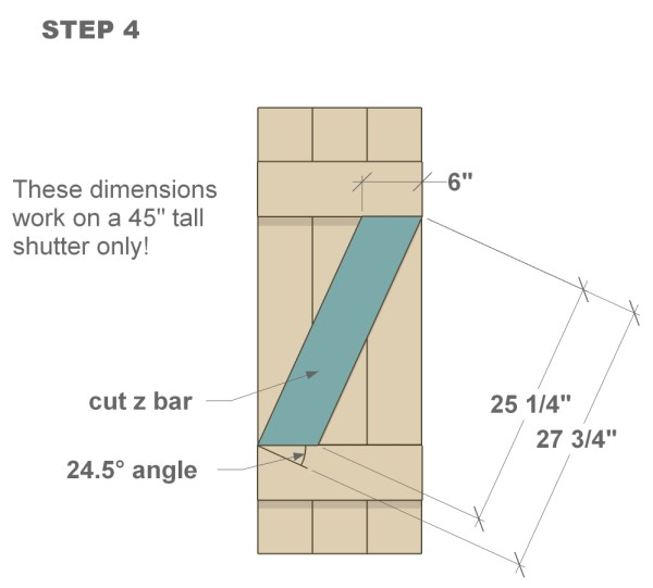 DIY wood shutter tutorial step four