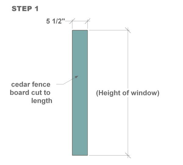 DIY wood shutter tutorial step one