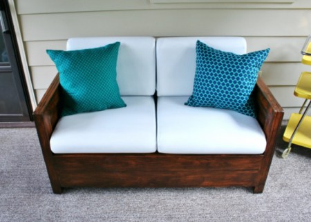 10-4 couch with plastic bag filling in throw pillows, Rappsody in Rooms