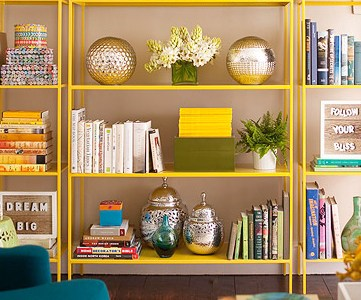 Get This Look - Stylish Open Shelf Library