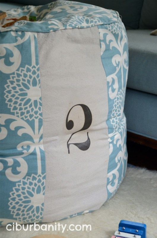 Land of Nod knock-off floor cushion, featured on Remodelaholic.com