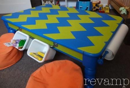 Land of Nod knock-off kids art table, Revamp Home Goods via Remodelaholic.com