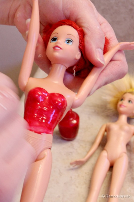 Modest Barbie Swimming suits with Nail polish