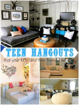 Ten Great Teen Hangouts via Remodelaholic.com