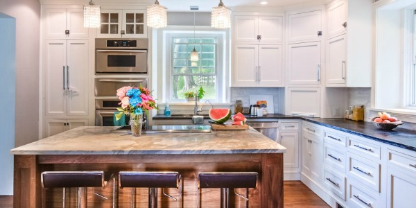 Remodelaholic White Country Kitchen Remodel With Marble Backsplash