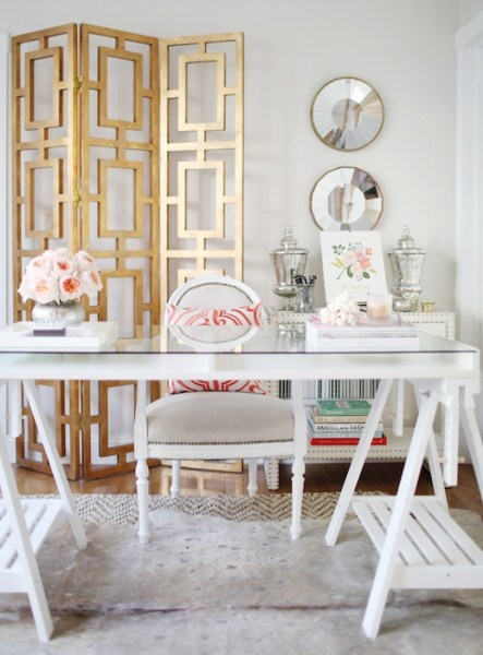 gold room divider screen, Dallas Shaw on Poppin