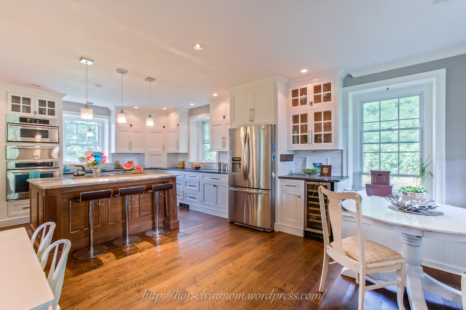 scratch dent kitchen appliances linoleum flooring remodelaholic   white country remodel with marble ...