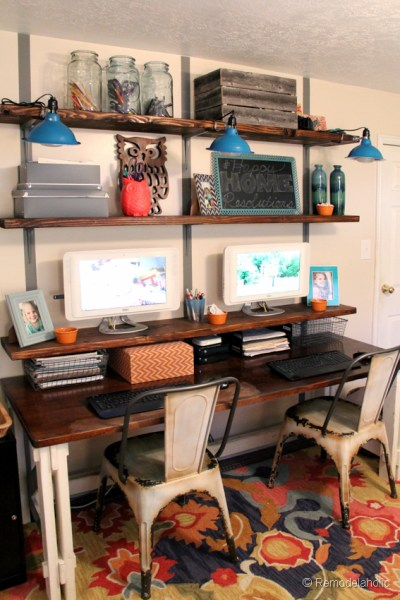 Office Organization Calendar Sharing : Remodelaholic get this look shared home office and