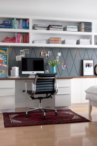 Get This Look: Easy Home Office with Wall Shelving ...