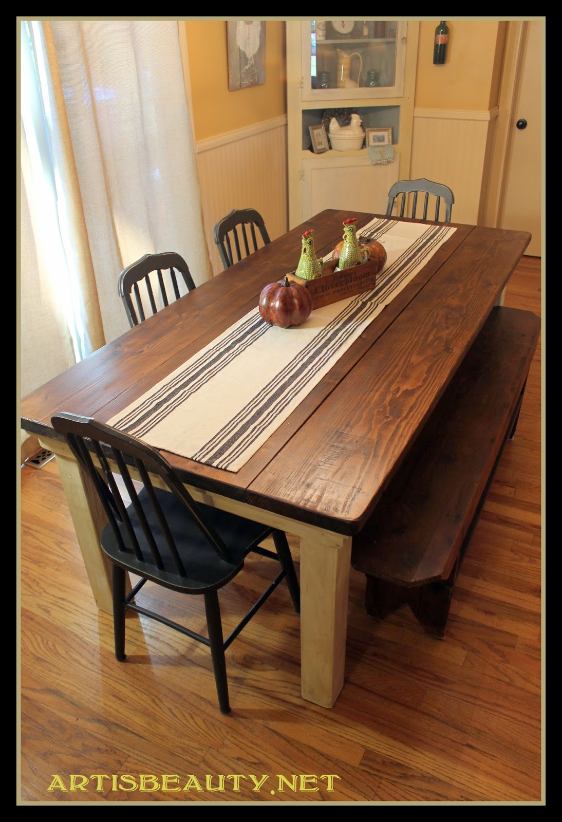 Build Kitchen Table Remodelaholic build a farmhouse table for under 100 build a farmhouse table for under 100 art is beauty featured on remodelaholic workwithnaturefo