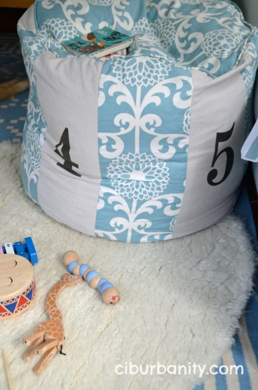 knock-off Land of Nod floor pouf, featured on Remodelaholic.com