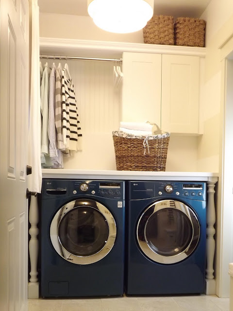 small laundry room makeover, Maillardville Manor - featured on Remodelaholic.com