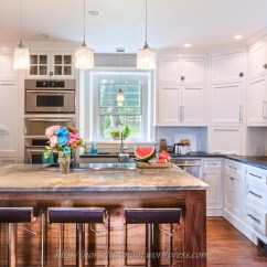Bling Kitchen Backsplash Chip Cabinets Remodelaholic | White Country Remodel With Marble ...