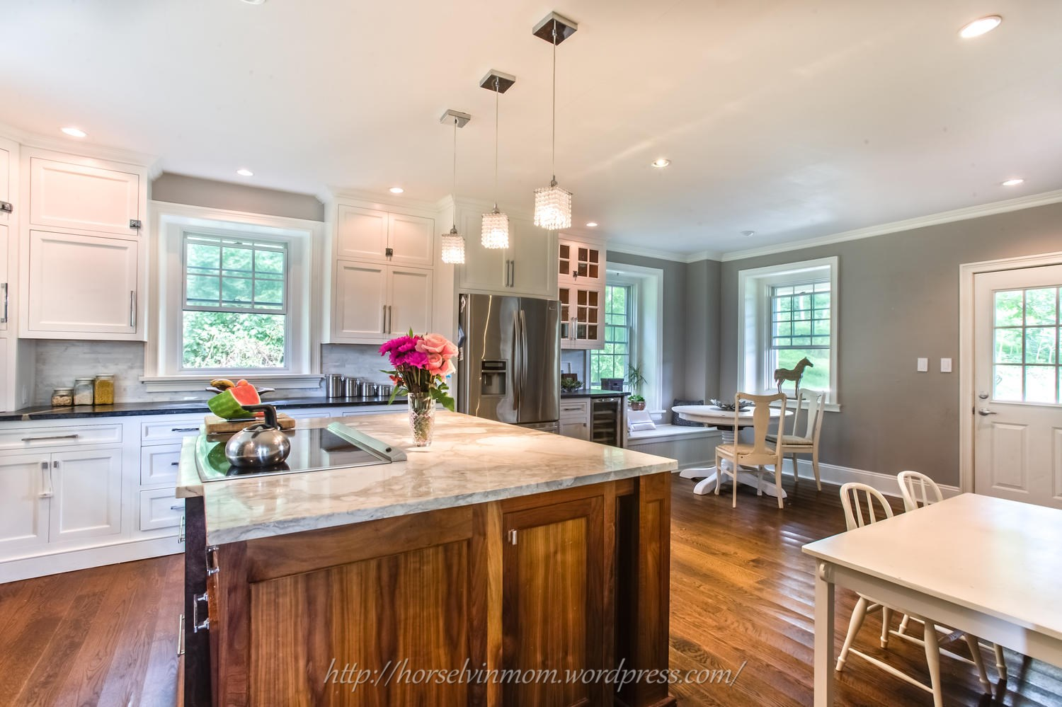 Remodelaholic | White Country Kitchen Remodel with Marble ...