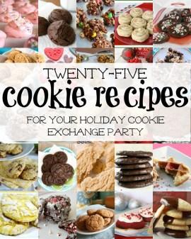 25 Cookie Exchange Recipes via Remodelaholic.com