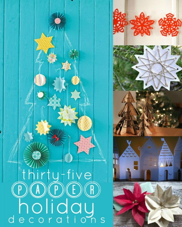 35 Paper Christmas and Holiday Decorations via Remodelaholic