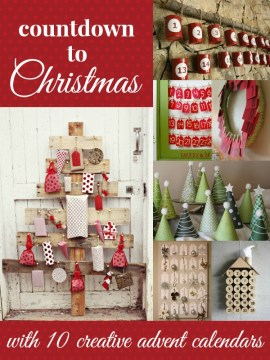 Creative Advent Calendar Ideas via Remodelaholic