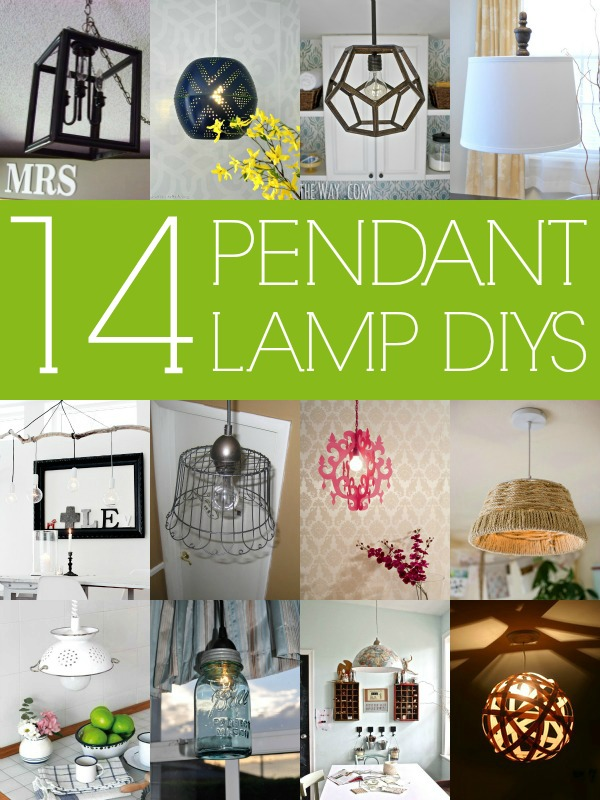 Remodelaholic 14 great diy pendant lights and link party 14 stylish diy pendant lights with tutorials via remodelaholic diy mozeypictures Image collections