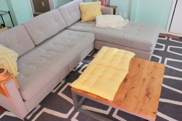 DIY modern coffee table, Home Coming featured on Remodelaholic