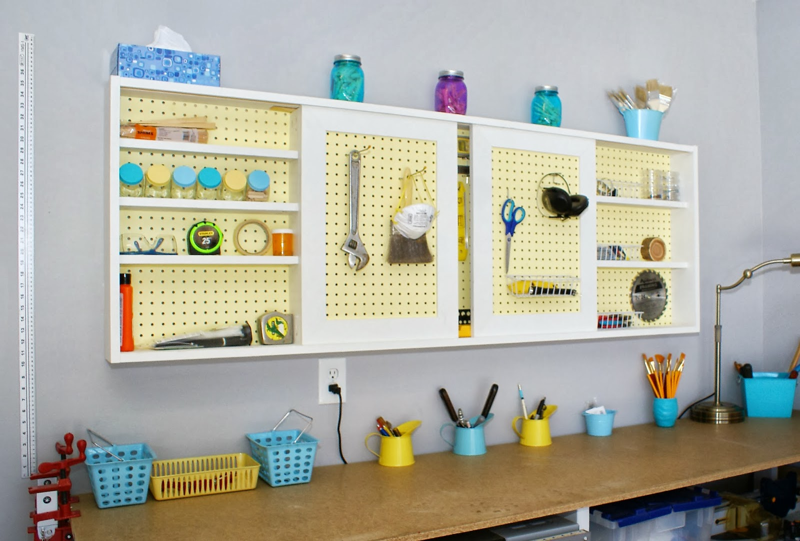 Etonnant DIY Tutorial   Pegboard Tool Cabinet With Sliding Doors, Featured On  Remodelaholic.com