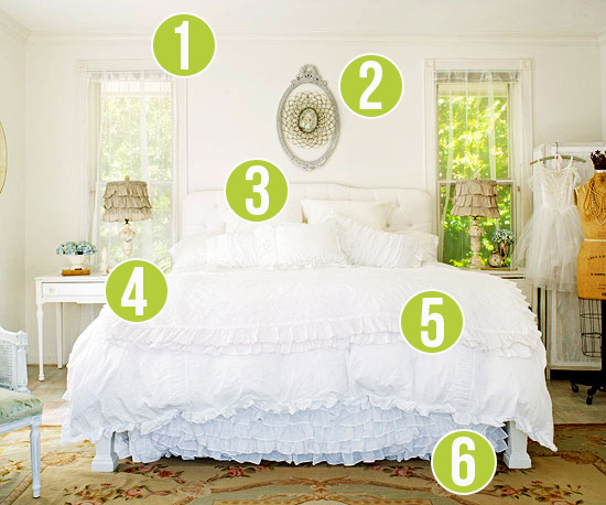 Get This Look   Dreamy White Bedroom   6 Tips From Remodelaholic.com  #getthislook