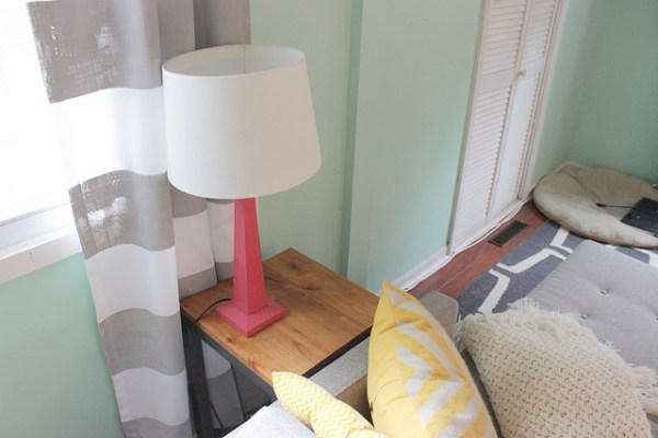 diy modern end table, Home Coming featured on Remodelaholic