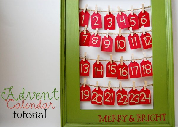 easy picture frame and paper tag advent calendar, Southern Lovely