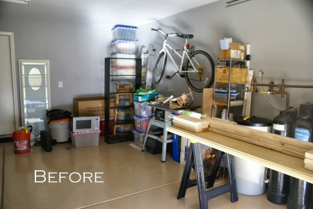 garage before, featured on Remodelaholic.com