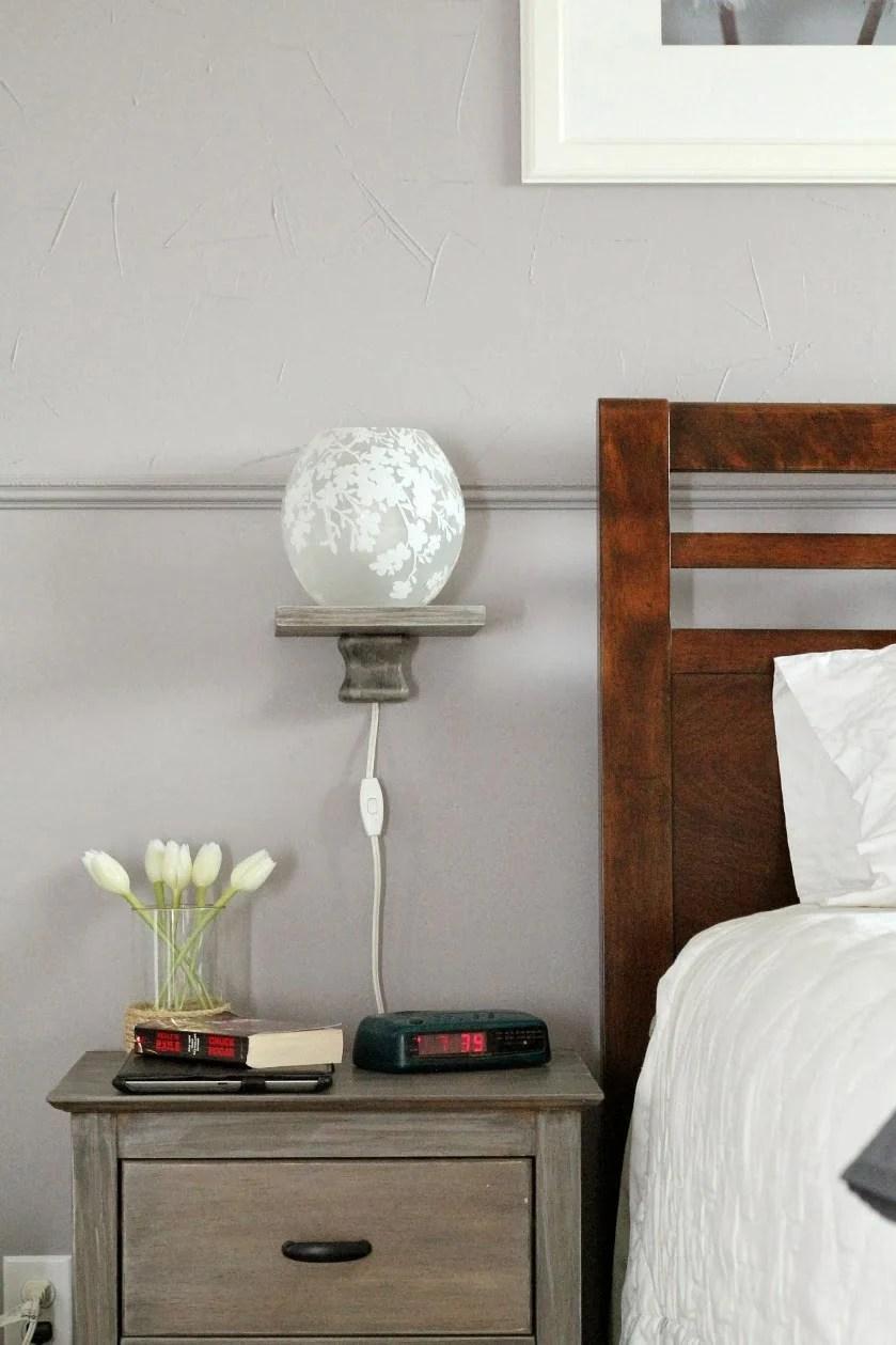 Remodelaholic Easy Floating Bedside Shelf Tutorial