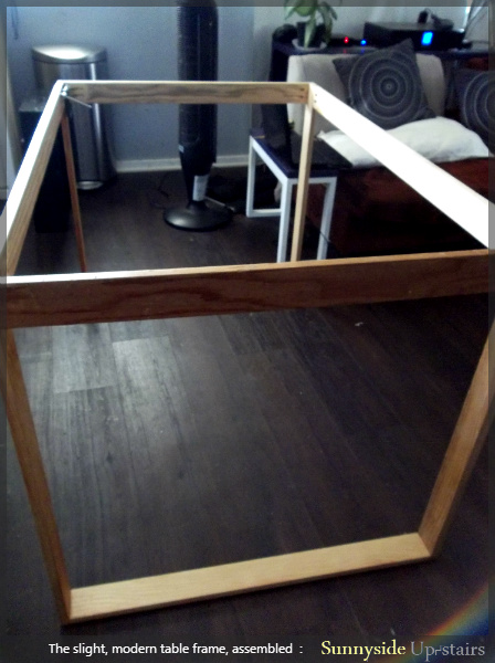 pocket holes and screws to attach table legs, Sunnyside Upstairs featured on Remodelaholic