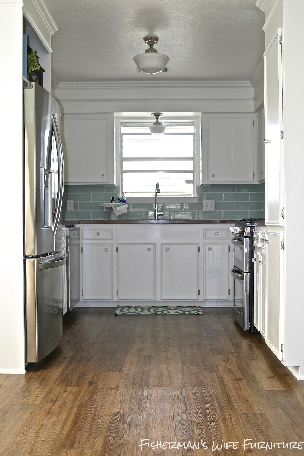 Remodelaholic | Small White Kitchen Makeover with Built-In ...