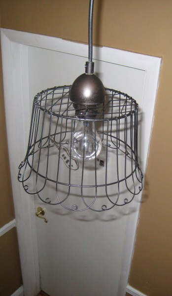 wire basket pendant light diy tutorial, 3 Sunkissed Boys featured on Remodelaholic