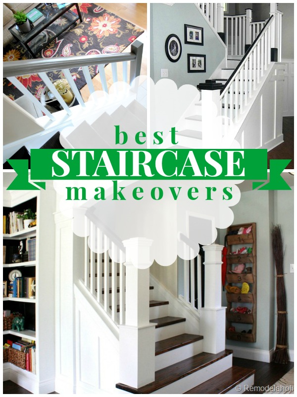 Best Staircase Makeovers On Remodelaholic.com #stairs #makeover #diy