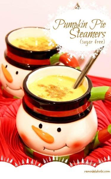 Sugar Free Pumpkin Steamers Recipe-remodelaholic