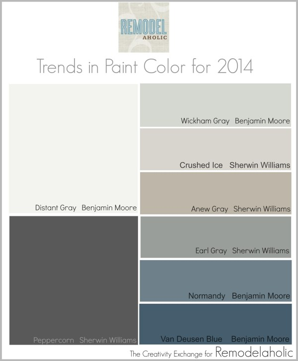Trends in Paint Color for 2014 {Remodelaholic}