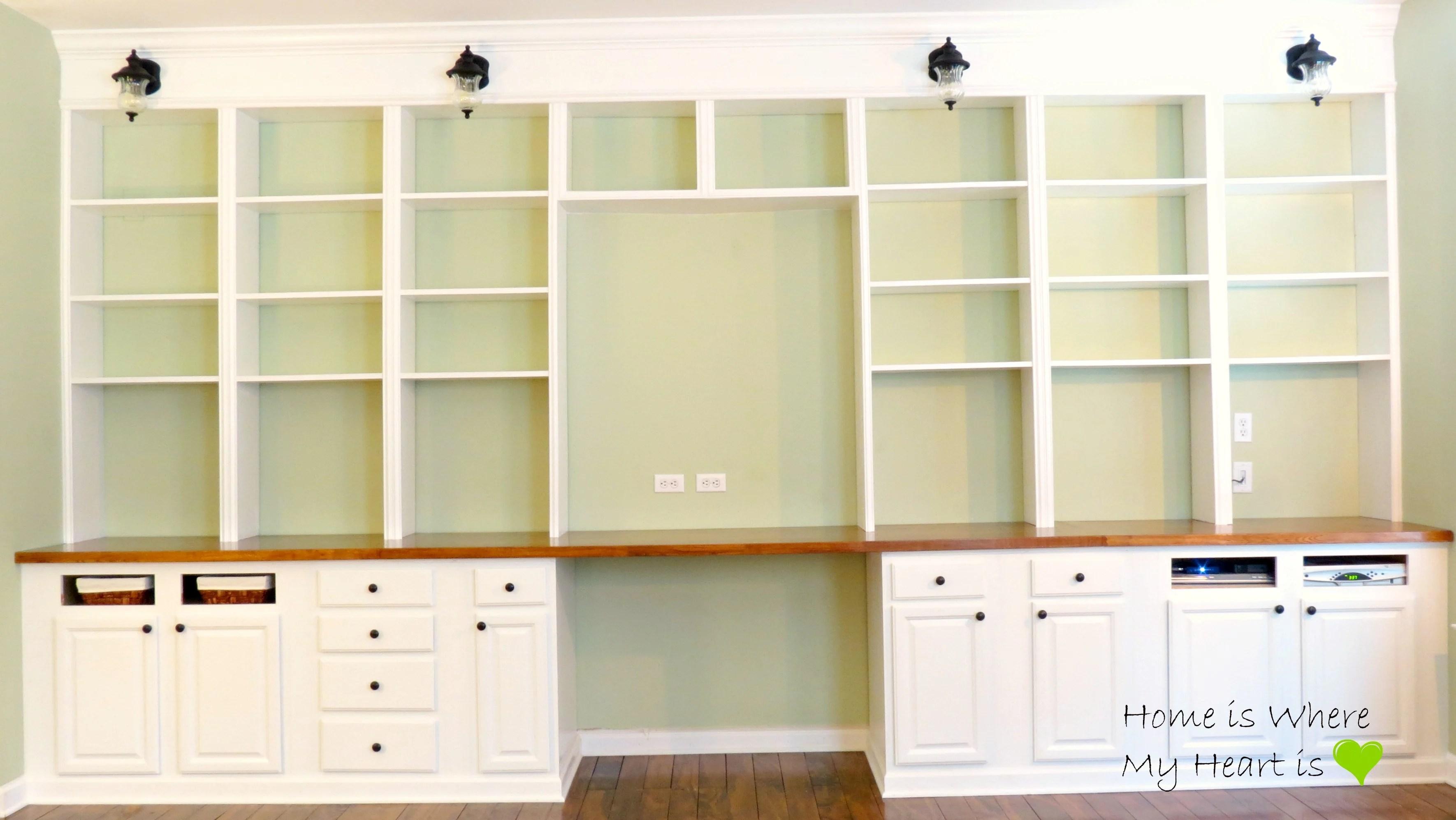 How To Build Full Wall Bookshelves