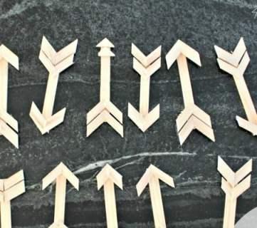DIY Wood Stick Arrow Ornaments