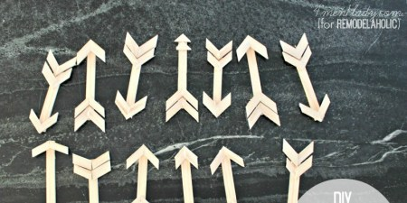diy wooden paint stick arrow christmas ornaments