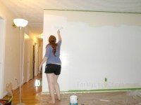 Remodelaholic | DIY Ombre Painted Hexagon Accent Wall