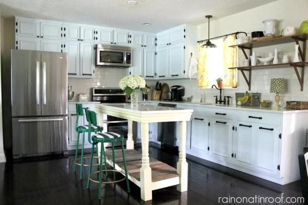 Remodelaholic | 1960's Ranch Kitchen Renovation With Custom Island