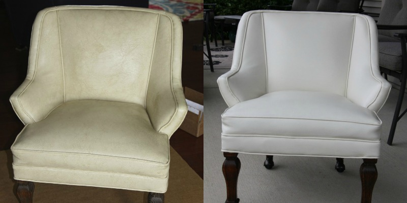 Remarkable Remodelaholic How To Restore An Old Leather Chair Ocoug Best Dining Table And Chair Ideas Images Ocougorg
