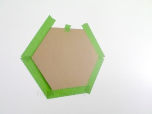 tape hexagon stencil and level, For My Love Of featured on Remodelaholic