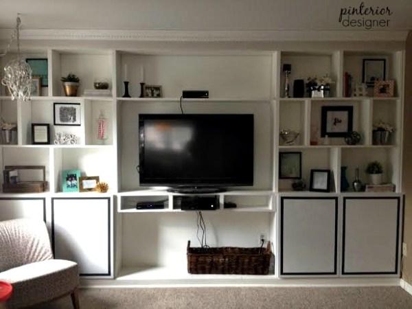 01-10 modern cabinet doors on built-in shelves, Pinterior Designer