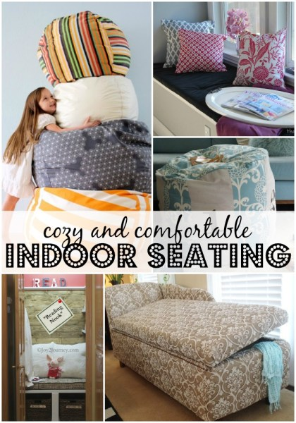 Comfortable and Cozy Indoor Seating Ideas and Tutorials from Remodelaholic