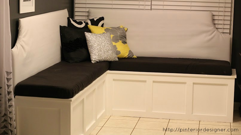 Surprising Remodelaholic Build A Custom Corner Banquette Bench Onthecornerstone Fun Painted Chair Ideas Images Onthecornerstoneorg