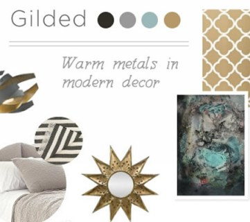 A Gilded Mood Board – Using Warm Metals in Modern Decor